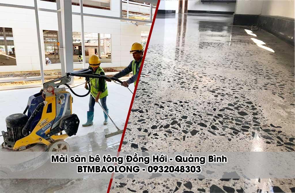 Mài sàn bê tông Đồng Hới - Quảng Bình